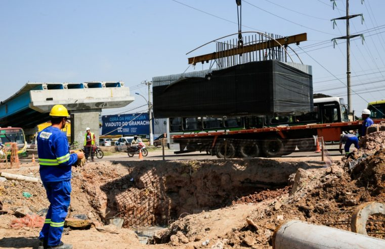 Iniciada mais uma etapa das  obras do viaduto do Gramacho