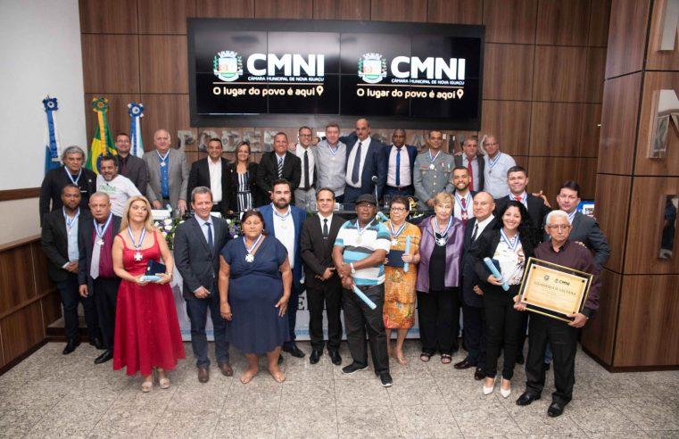 Câmara de Nova Iguaçu realiza cerimônia de entrega  das Medalhas do Mérito Comendador Soares