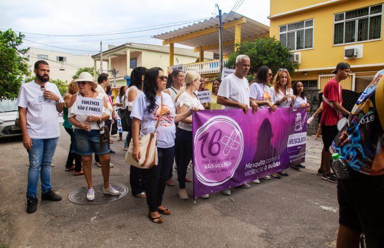 """Caminhada encerra os """"16 Dias de Ativismo  pelo Fim da Violência Contra a Mulher"""""""
