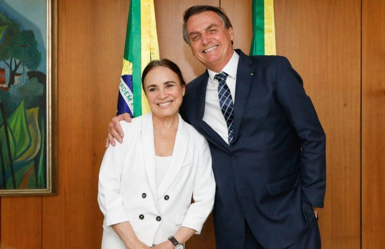 Ninguém melhor do que Regina  Duarte para a Cultura, diz Bolsonaro