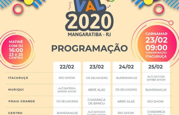 Prefeitura de Mangaratiba divulga  programação oficial do Carnaval 2020