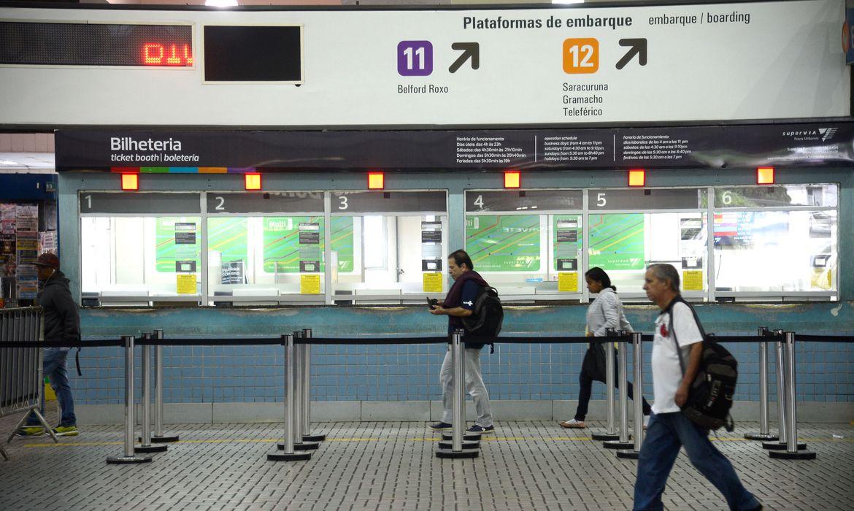 Trens no Rio registram queda de  quase 70% no número de passageiros