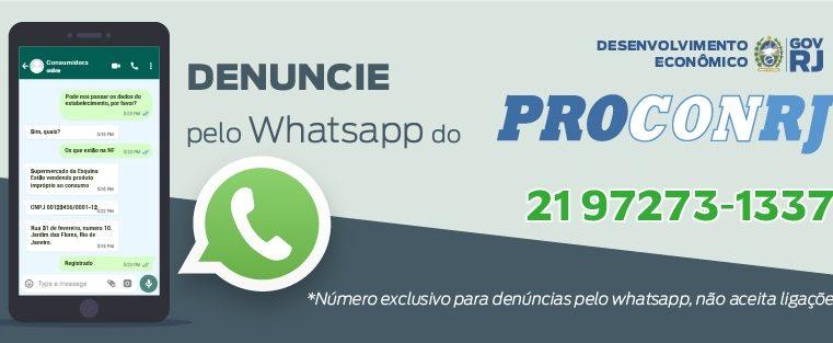 Procon-RJ lança whatsapp exclusivo para  denúncias durante a pandemia da Covid-19