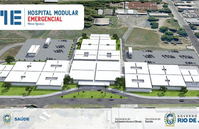 Seinfra inicia obras do hospital  modular de Nova Iguaçu