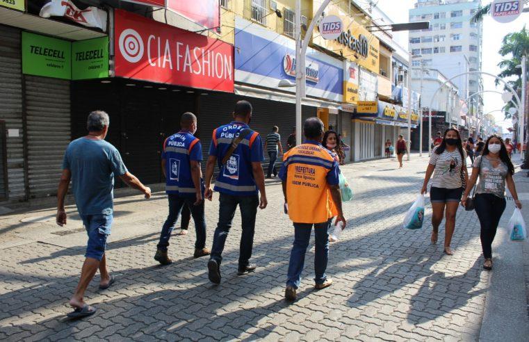 Prefeitura fiscaliza cumprimento de  decreto no comércio em Nova Iguaçu