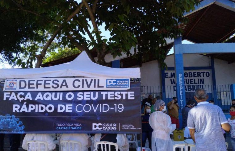 Duque de Caxias já realizou mais de  80 mil testes em massa para covid-19