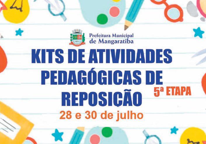 Kits de Atividades Pedagógicas continuam  sendo entregues nesta quinta-feira (30)