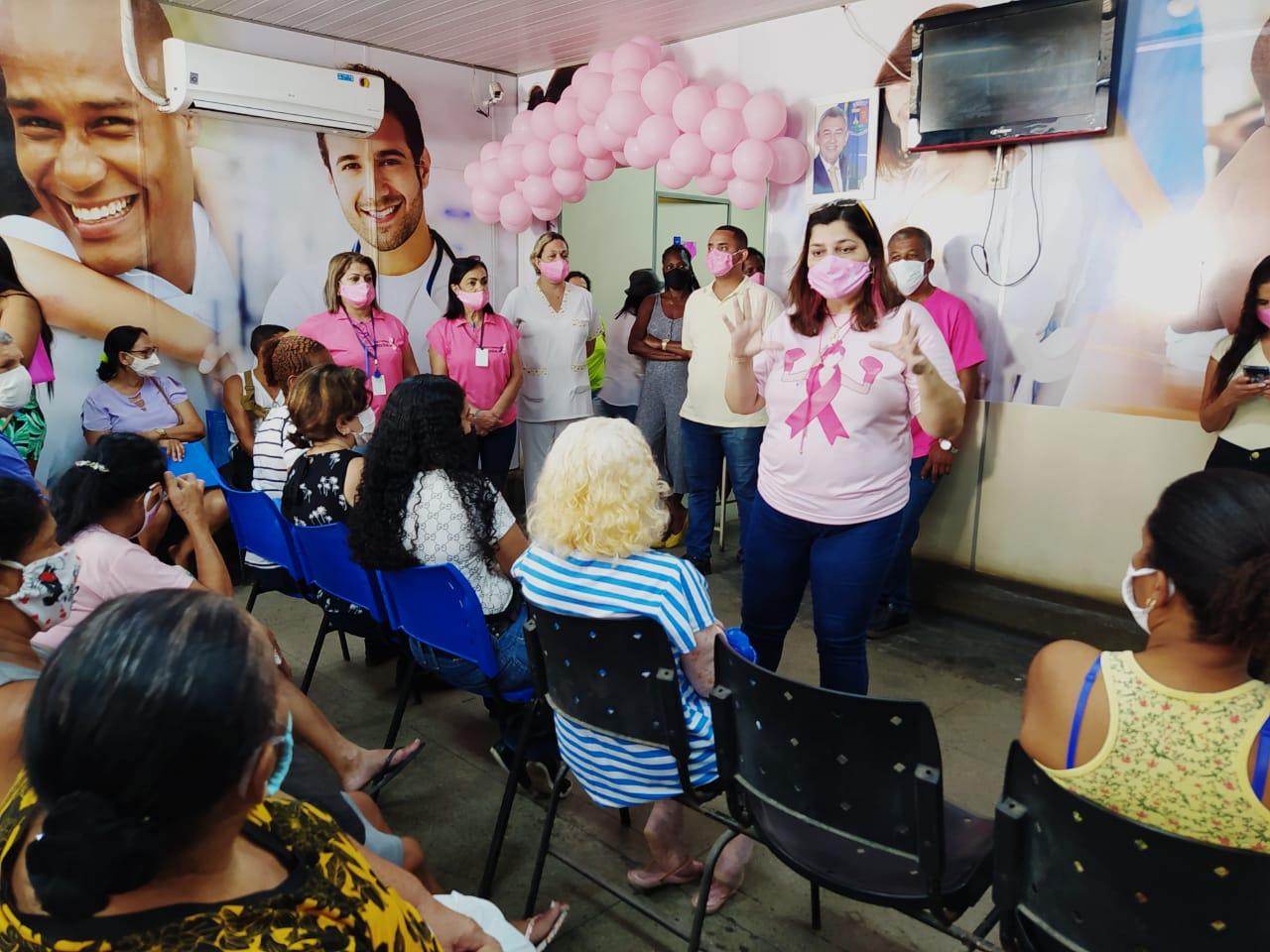 Secretaria de Saúde de Meriti promove  palestra sobre o câncer de mama