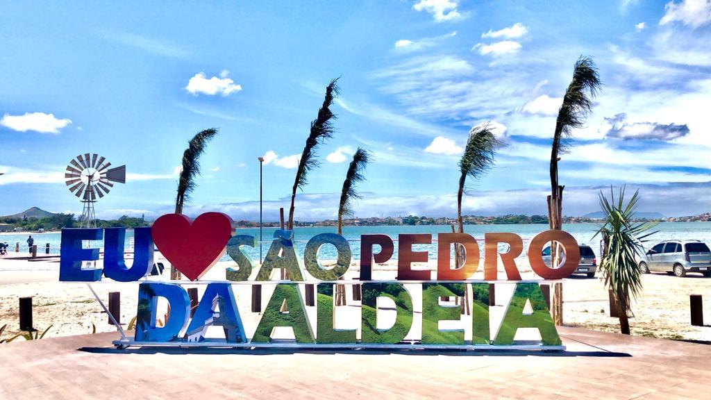 Orla do Centro de São Pedro da Aldeia  ganha letreiro e vira novo ponto turístico