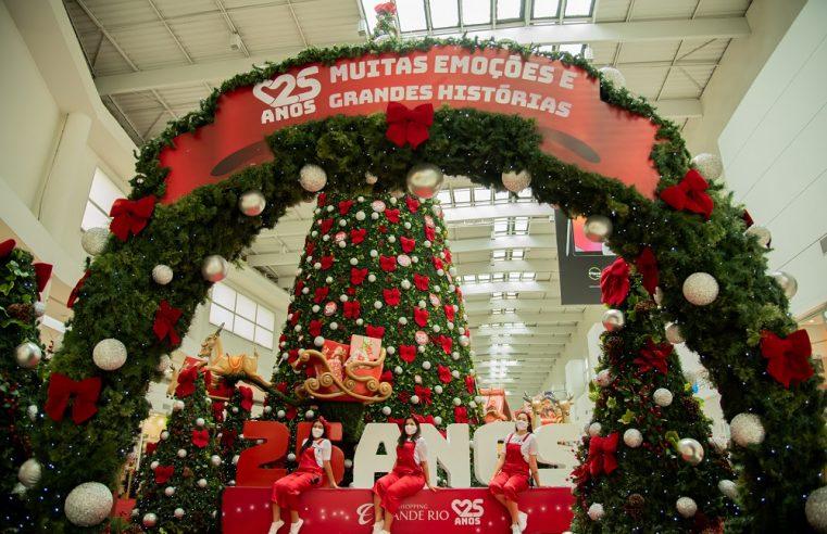 Shopping Grande Rio apresenta um natal especial em homenagem aos seus 25 anos