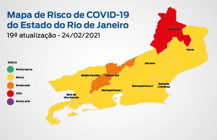 Mapa de risco da Covid-19: estado permanece em bandeira amarela com baixo risco