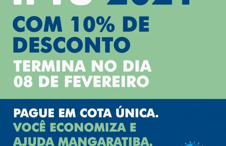Desconto de 10% do IPTU 2021 termina dia 08 de fevereiro