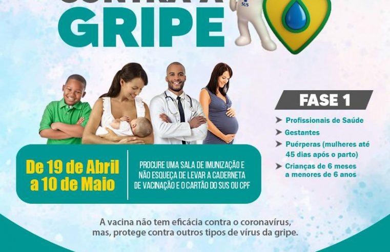 Vacinação contra a gripe começa na  próxima segunda-feira em Mangaratiba