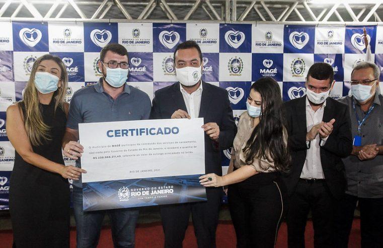 Mais cinco cidades recebem certificado pela  participação na concessão dos serviços de saneamento