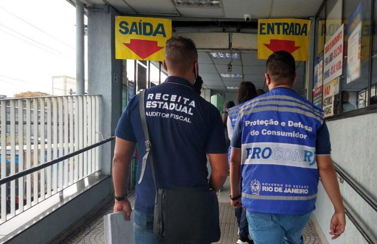 Secretaria Estadual de Fazenda e Procon-RJ  realizam operação conjunta em supermercados