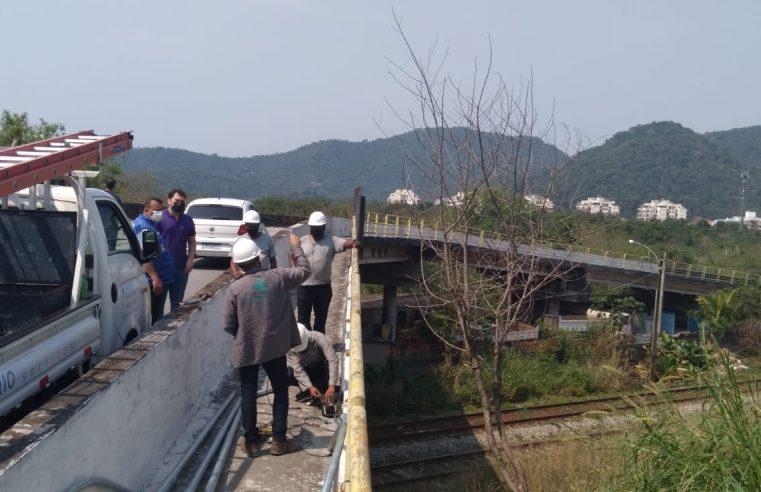 Viaduto de Itacuruçá  passa por revitalização